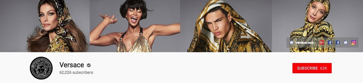 Versace Youtube banner