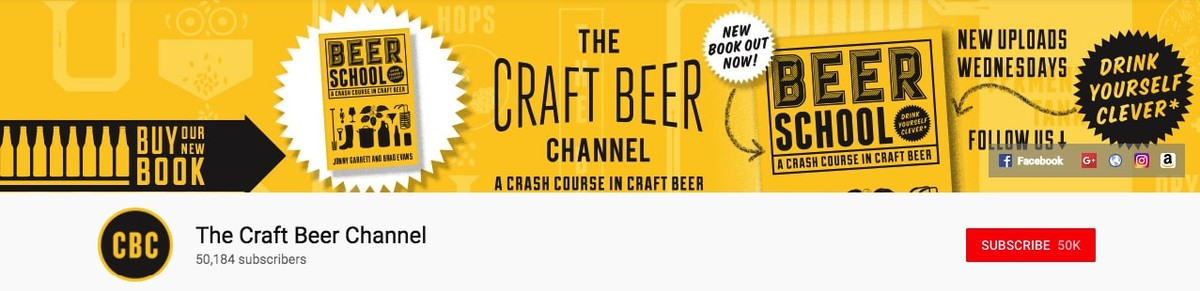 The Craft Beer Youtube banner