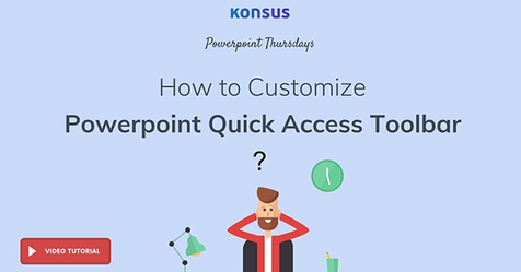 How To Customize PowerPoint Quick Access Toolbar →