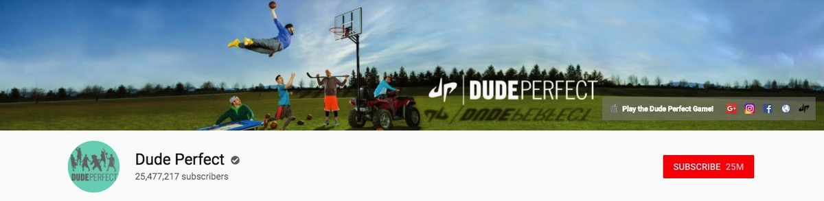 Dude Perfect Youtube banner