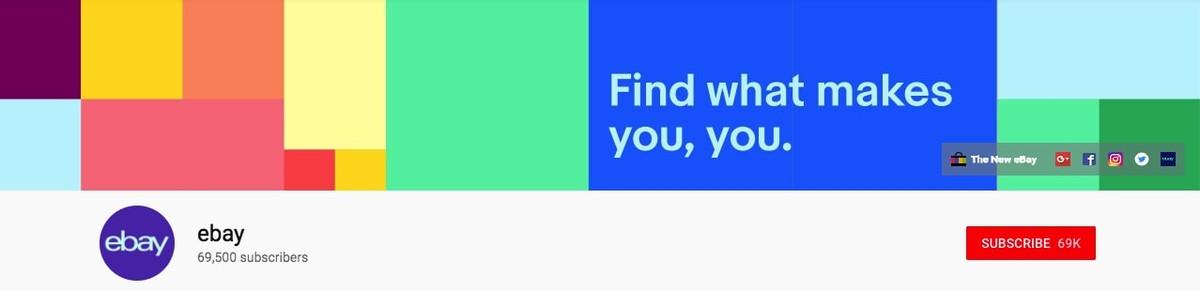 Ebay Youtube banner