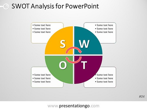 Preview of PresentationGo SWOT Template