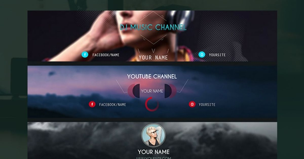 25 Cool Youtube Banner Ideas For 2020 Free Templates