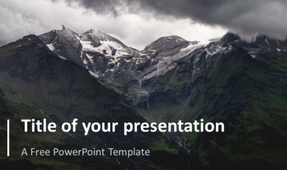 PresentationGo template example