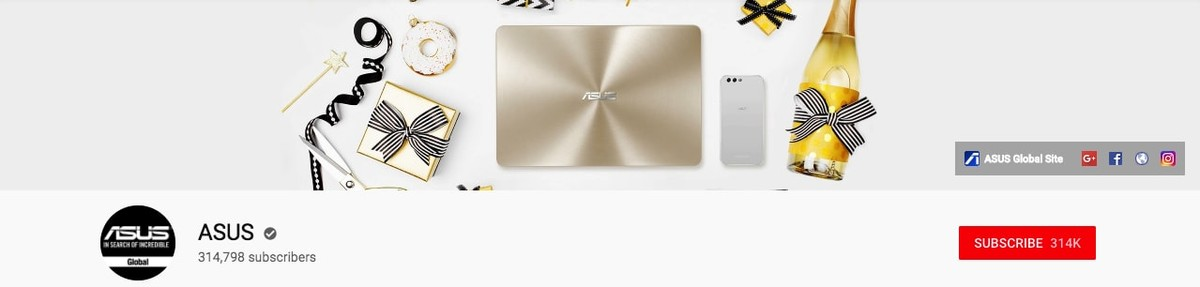 ASUS Youtube banner