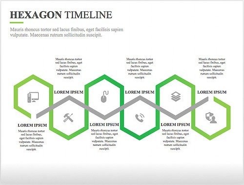 Hexagon Timeline Template