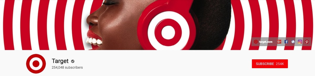Target Youtube banner