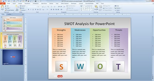 Preview of Slide Hunter SWOT Template