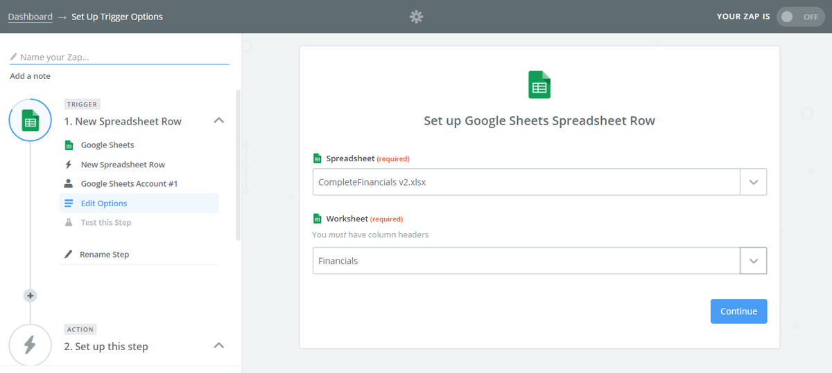 Create Dashboards in Google Sheets