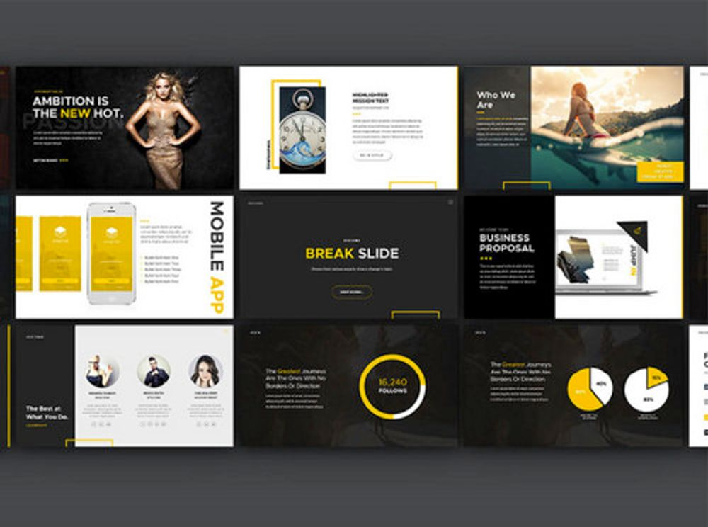 Behance template example