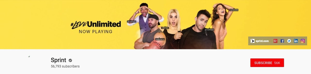 Sprint Youtube banner