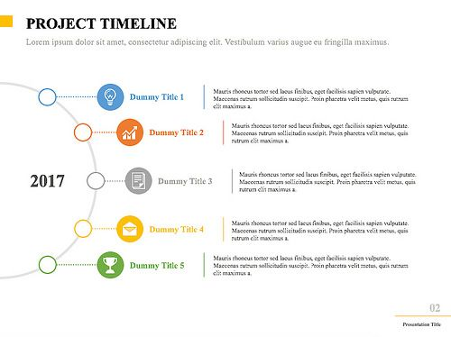 This Multi Color, Minimalist Project Timeline Template Is Great For  Pitching A Project To A Client, In An In House Management Meeting, Or For  Presenting A ...