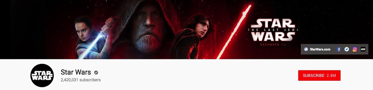 Star Wars Youtube banner