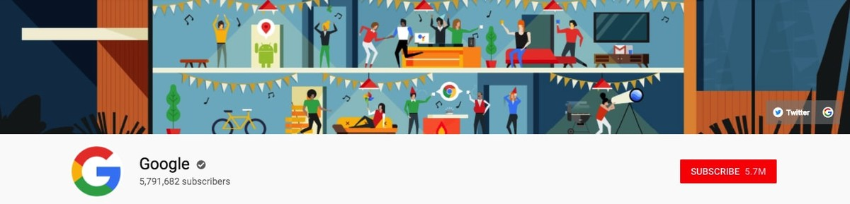Google Youtube banner