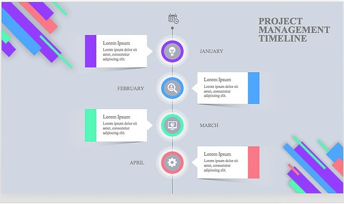 15 best timeline templates free editable custom designs unlike some of the project management powerpoint templates weve seen before this one uses time instead of tasks as a reference splitting the project into toneelgroepblik Images