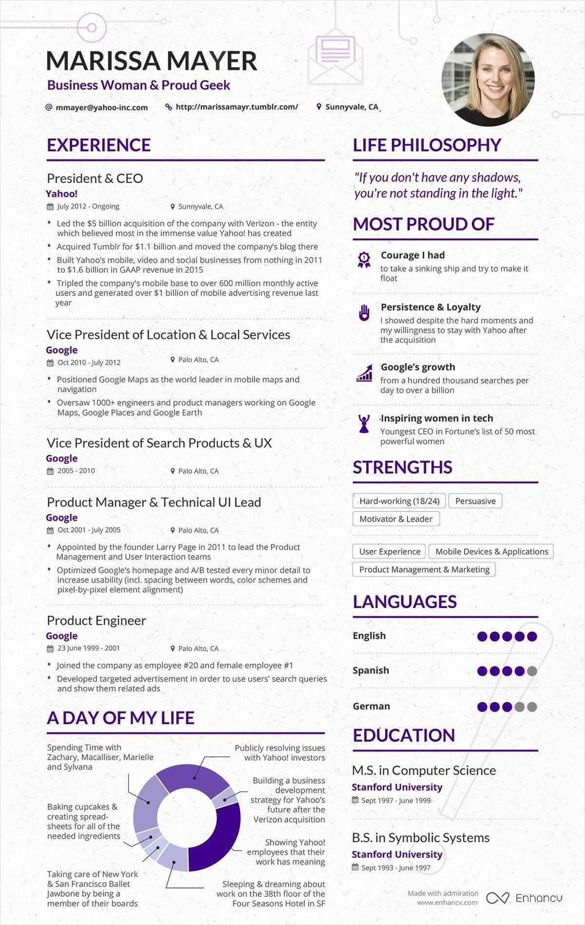 15+ infographic resume ideas for non-creative jobs | free templates