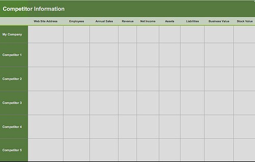 Preview of Word Template Online Excel SWOT Template