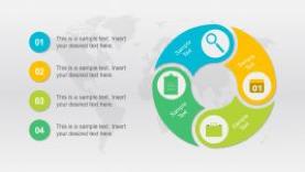 Circular 4-Steps Diagram