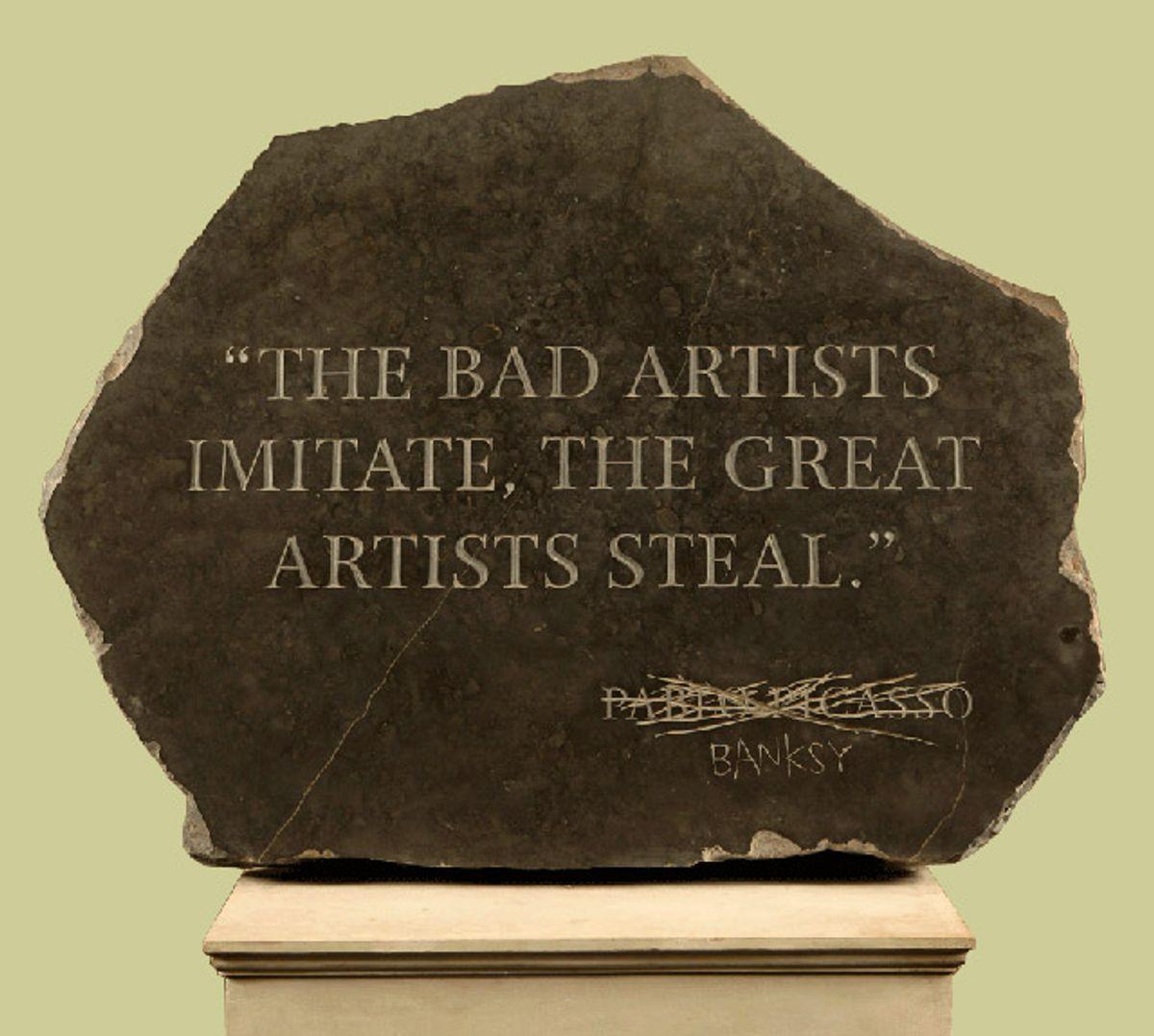 Buenos artistas copian grandes artistas roban