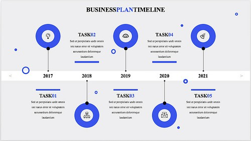 Professional business plan timeline template