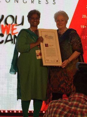 Shubha Chacko receives the award of Global Diversity Leader at the World Diversity & Inclusion Congress, Mumbai 2017