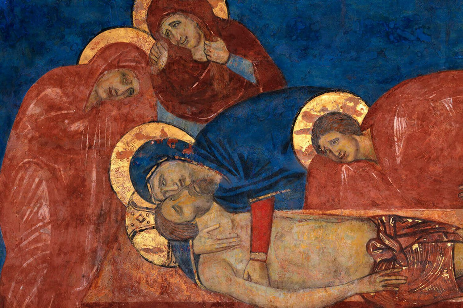 Fresco of the deposition in the tomb of S.Maria