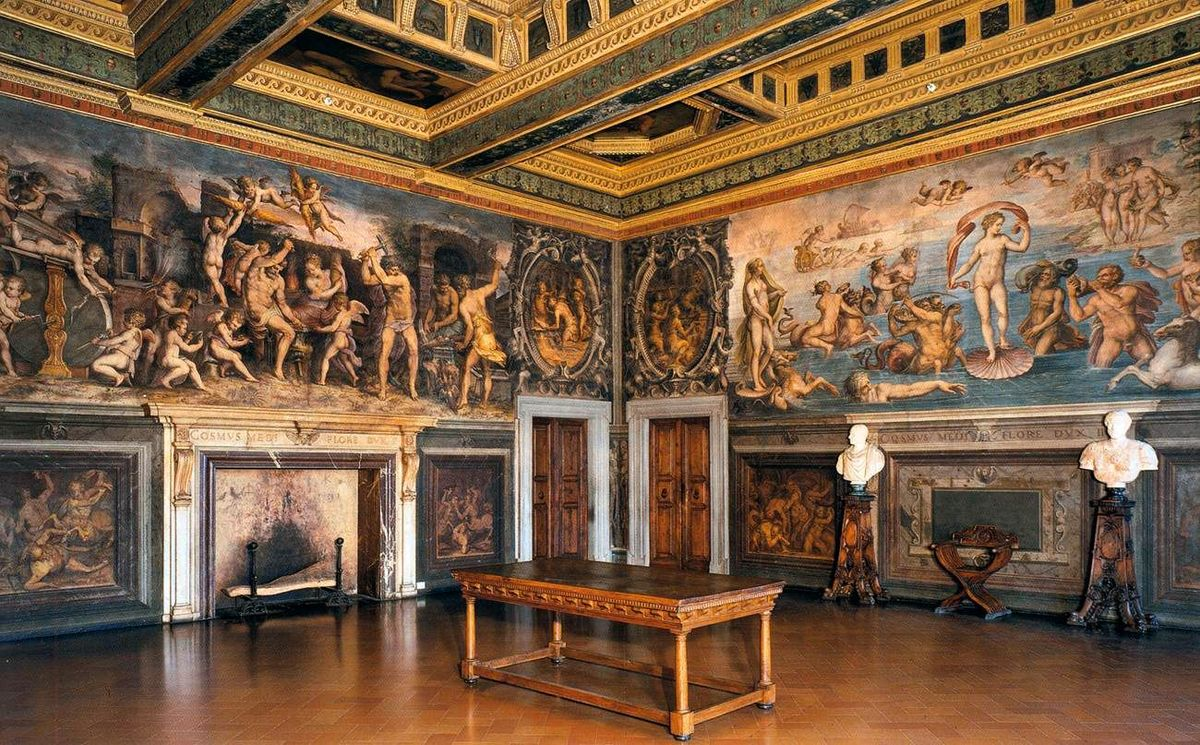 """The """"Room of the Elements"""" in Palazzo Vecchio in Florence"""