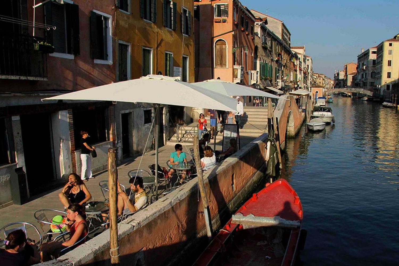 Eating at La Bagatela in Venice