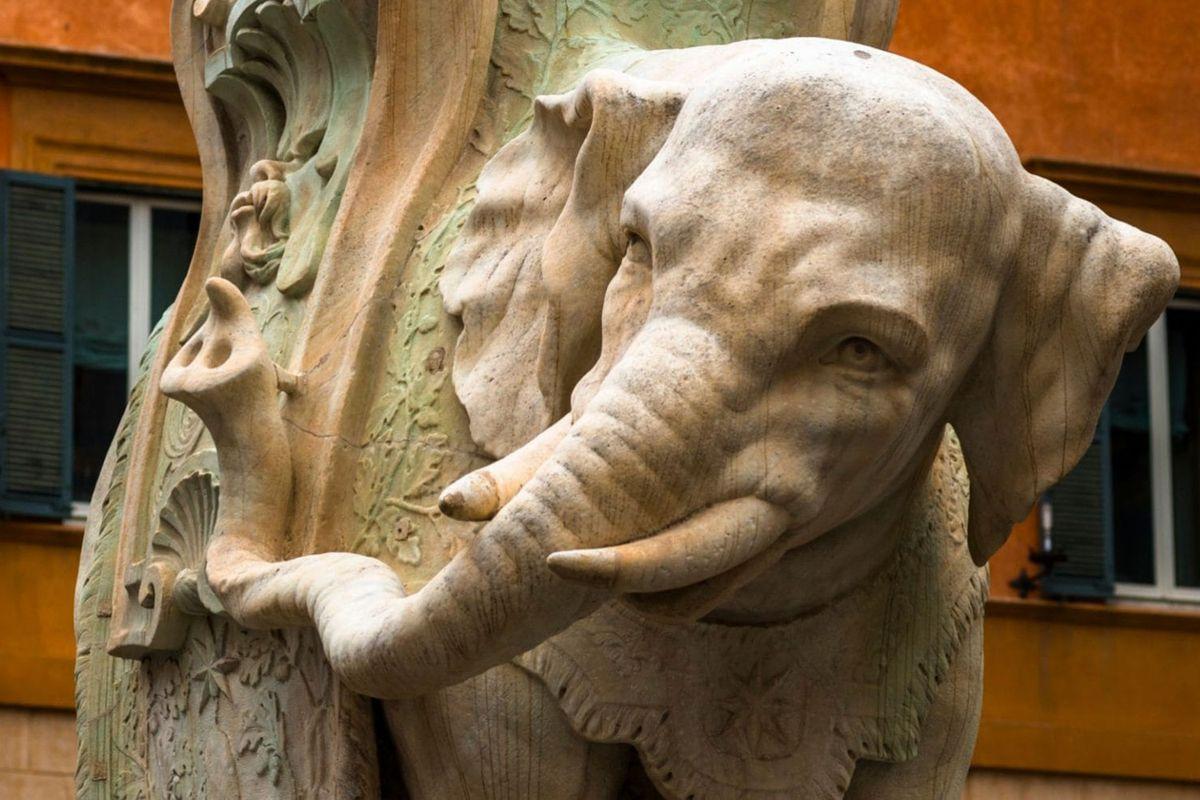 Sculptured by Ercole Ferrata from the designs of Gian Lorenzo Bernini.