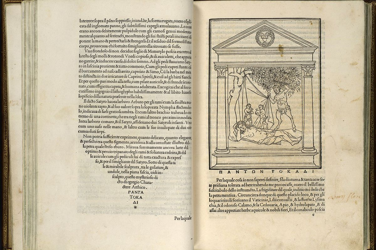 Copy of the book Hypnerotomachia Poliphili by Francesco Colonna, now in the MET.
