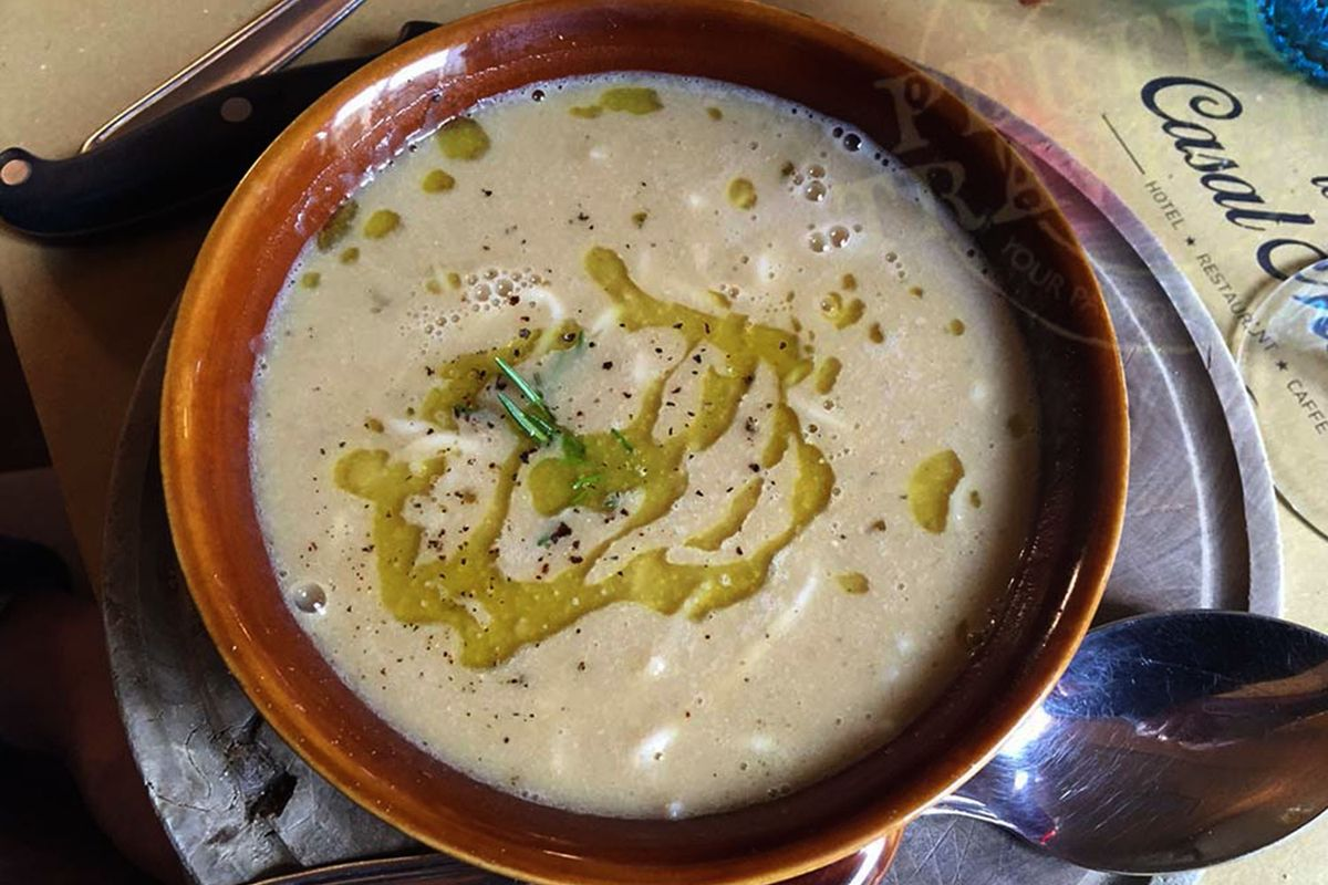 Zuppa di Farro at Locanda di Casalmustia.
