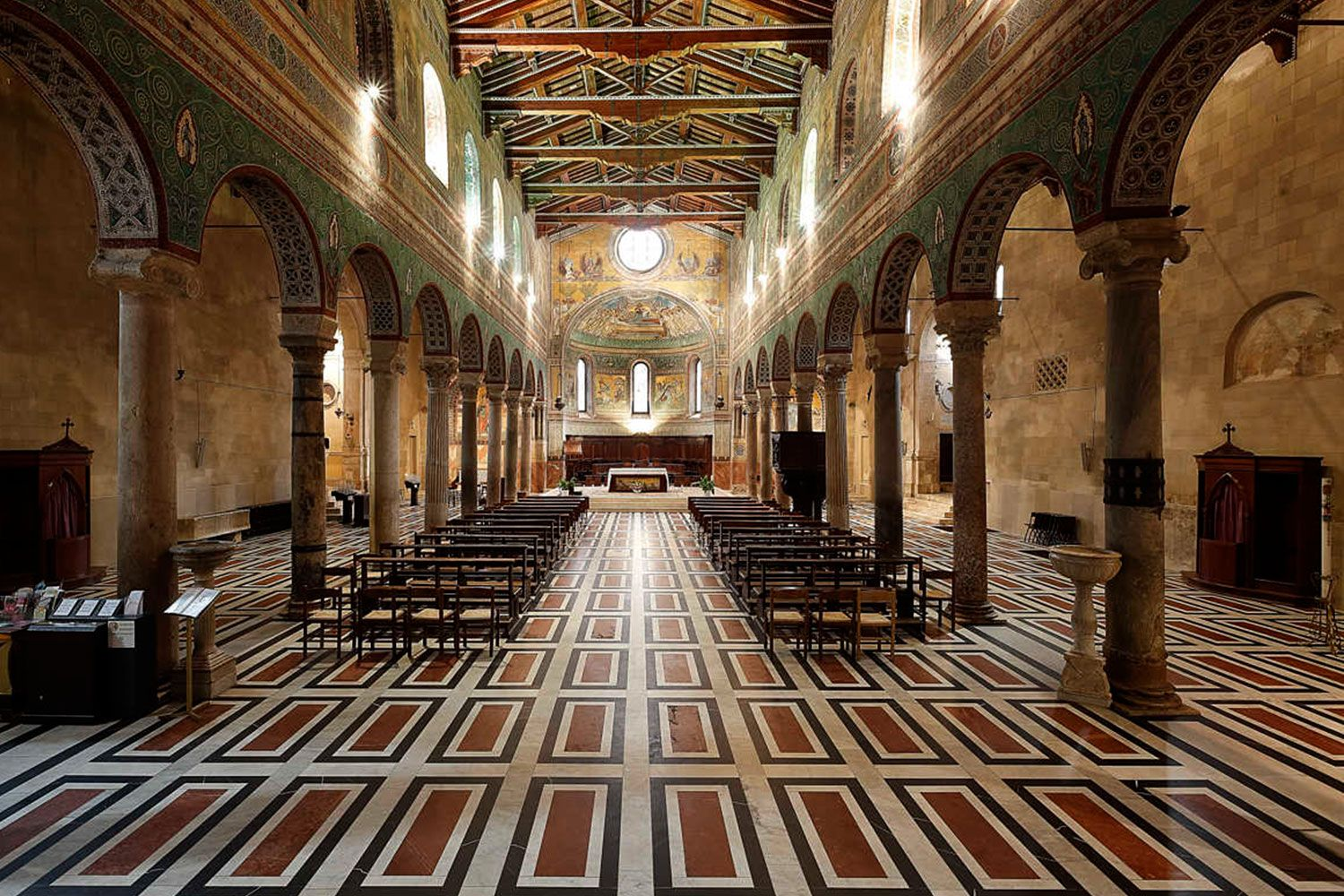 Inside the Duomo of Chiusi that dates back to the 6th century AD.