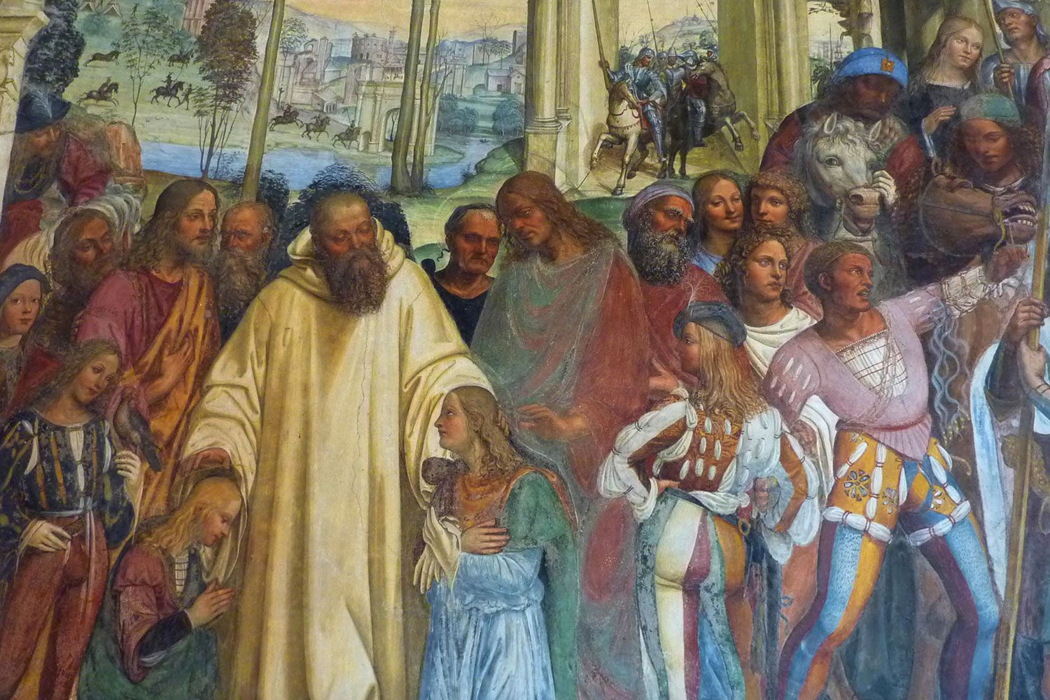 Benedict receiving Maurus and Placid from Rome