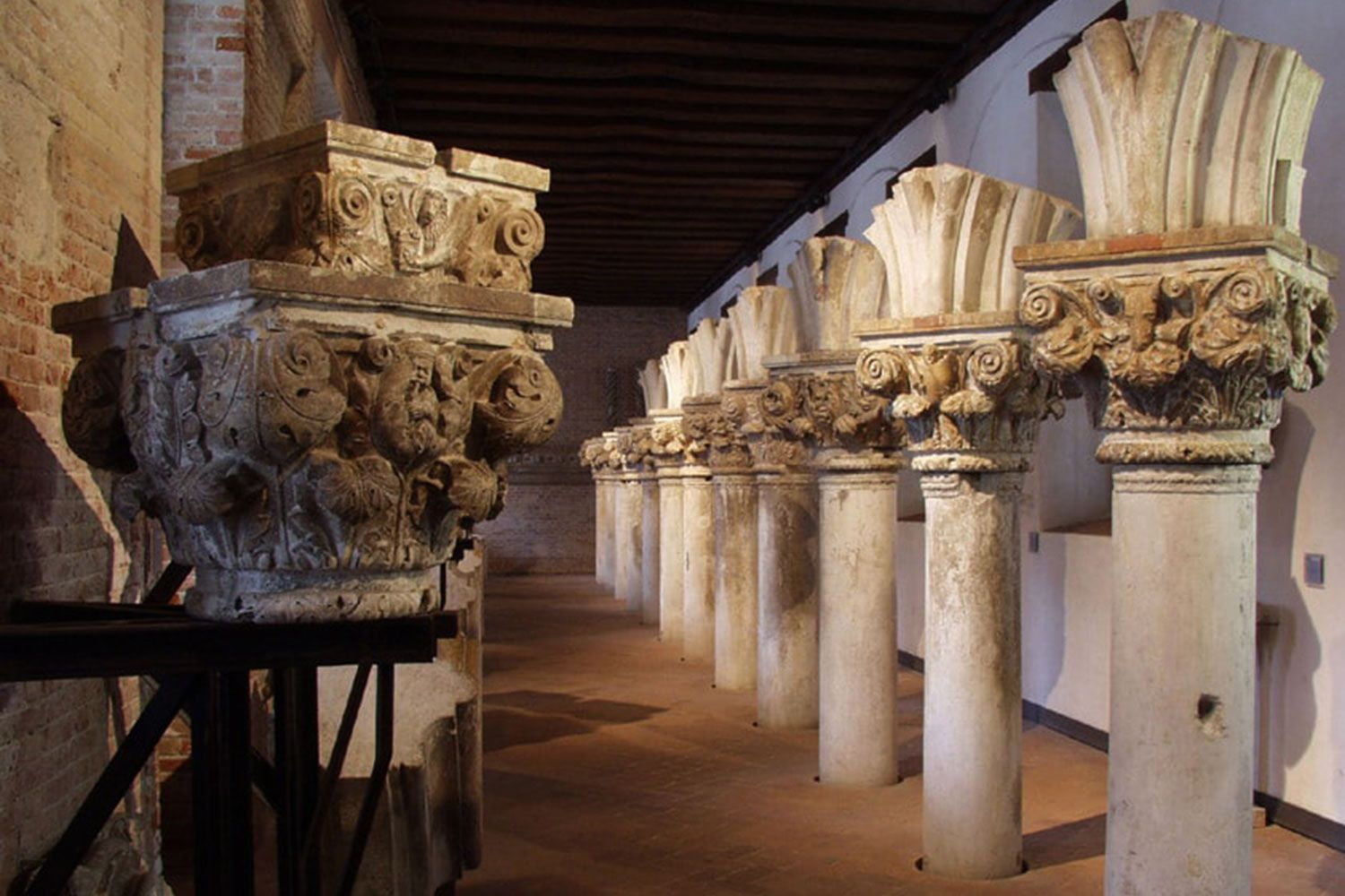 Even discarded stone and columns in Venice are important enough to grace a museum.