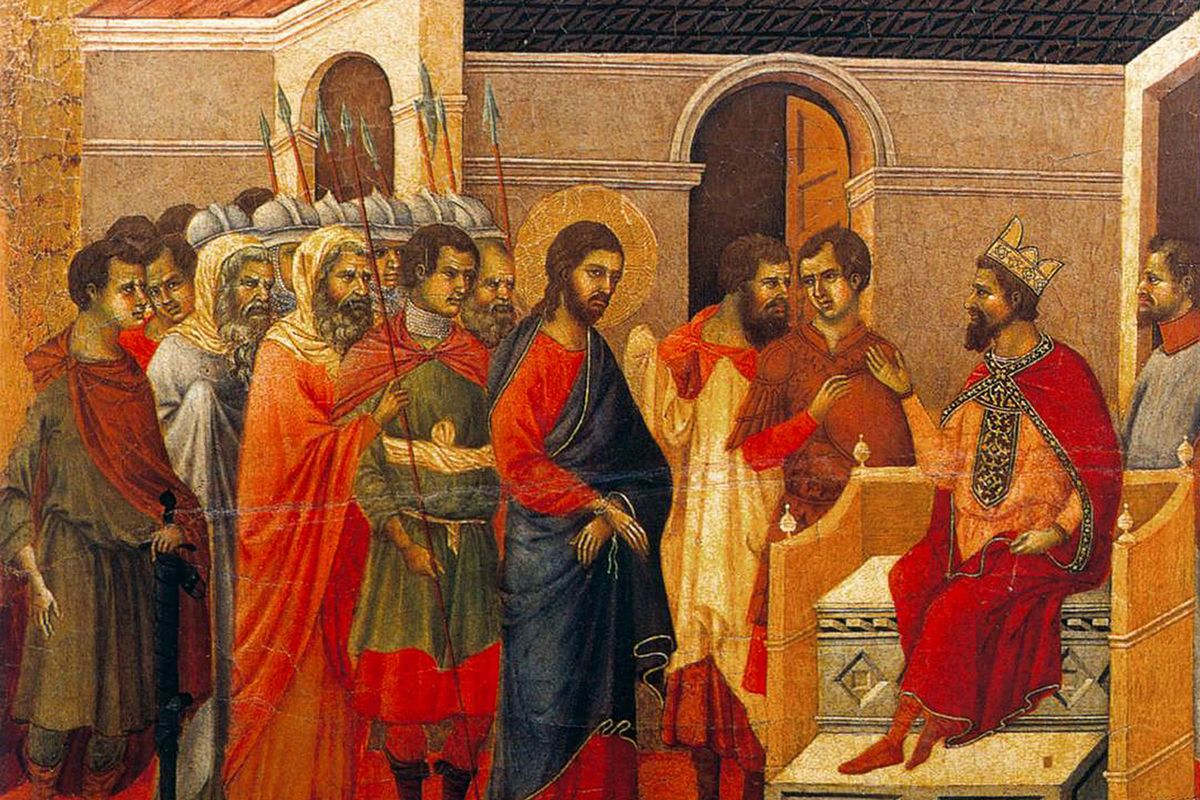 Christ Before King Herod. (On the back of The Maestà)