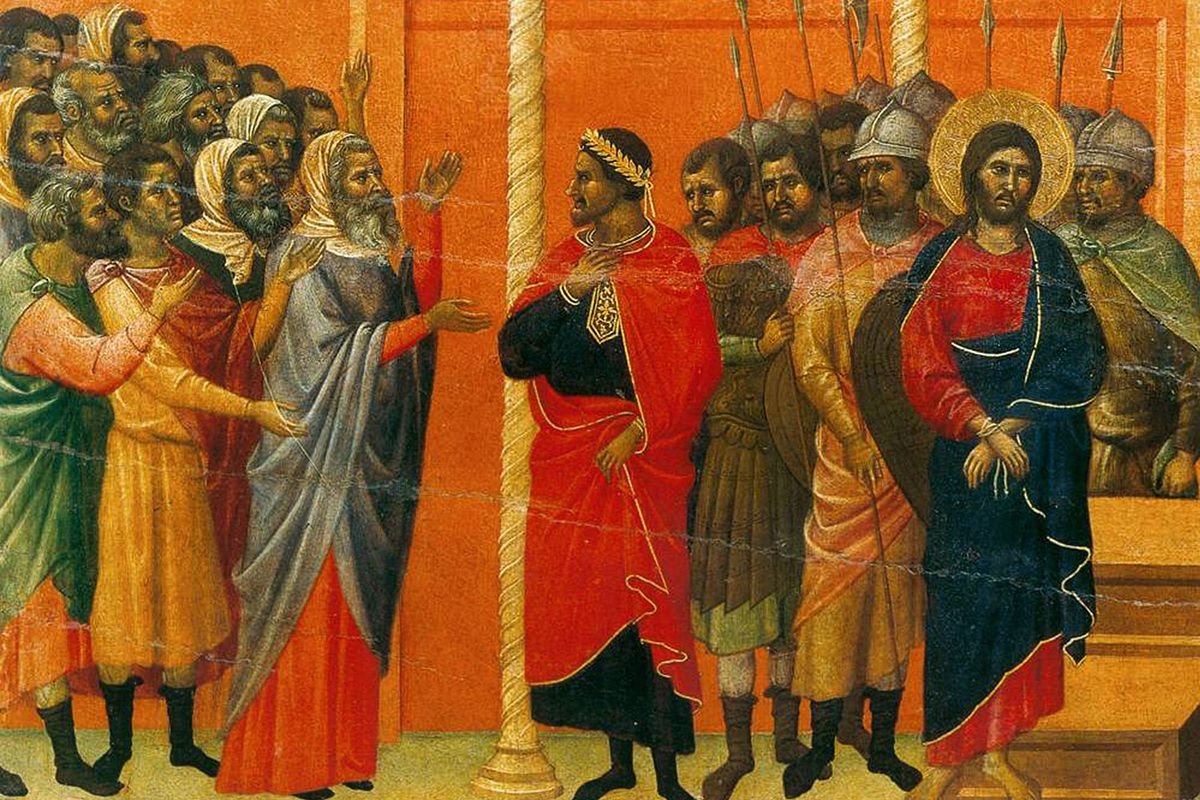 Christ Accused by the Pharisees. (On the back of The Maestà)