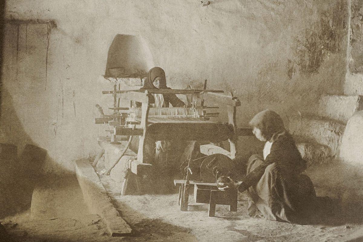 Weaving in the Sardinian mountain town of Fonni.