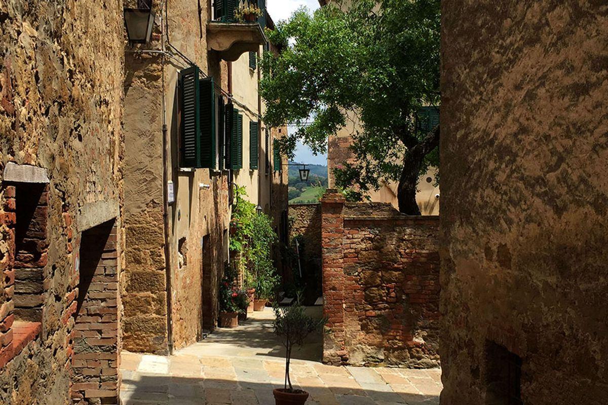 The old center of Castelmuzio in Tuscany.