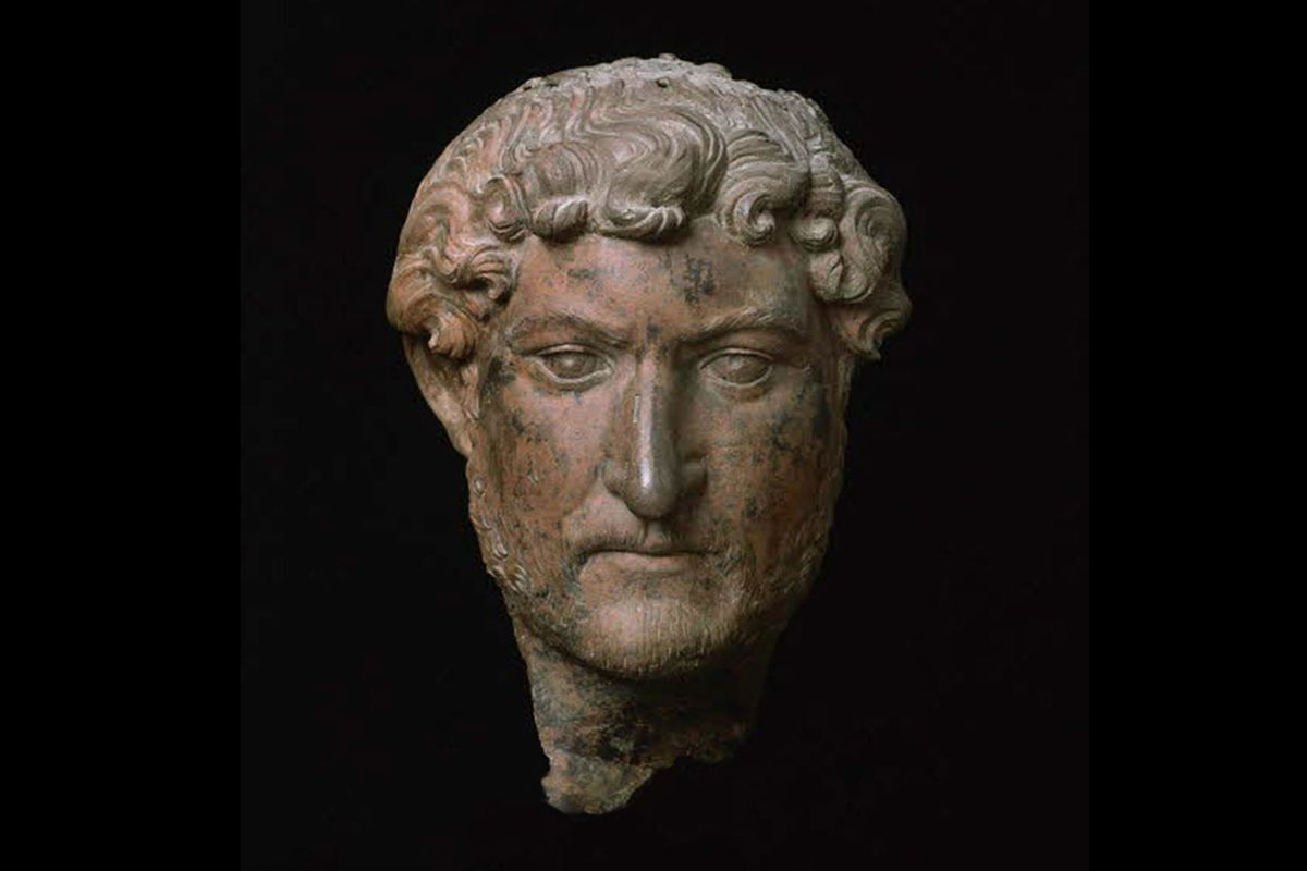A bronze bust of Hadrian now in the Louvre Museum in Paris