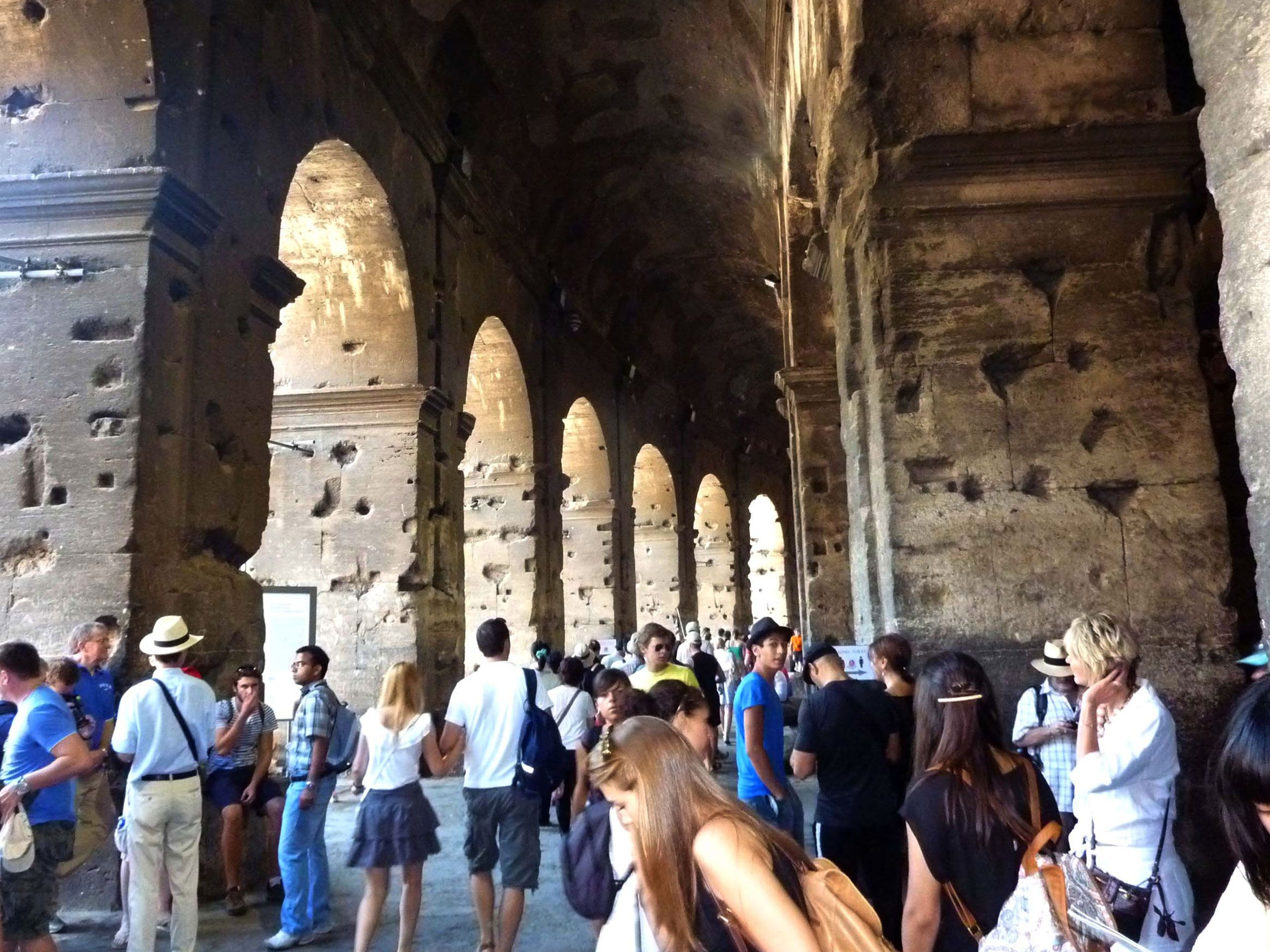 Inside the Colosseum today