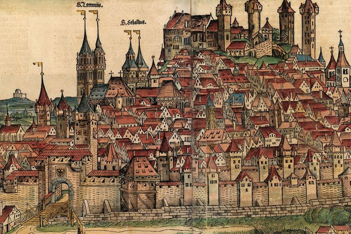Medieval fortified towns across Europe.