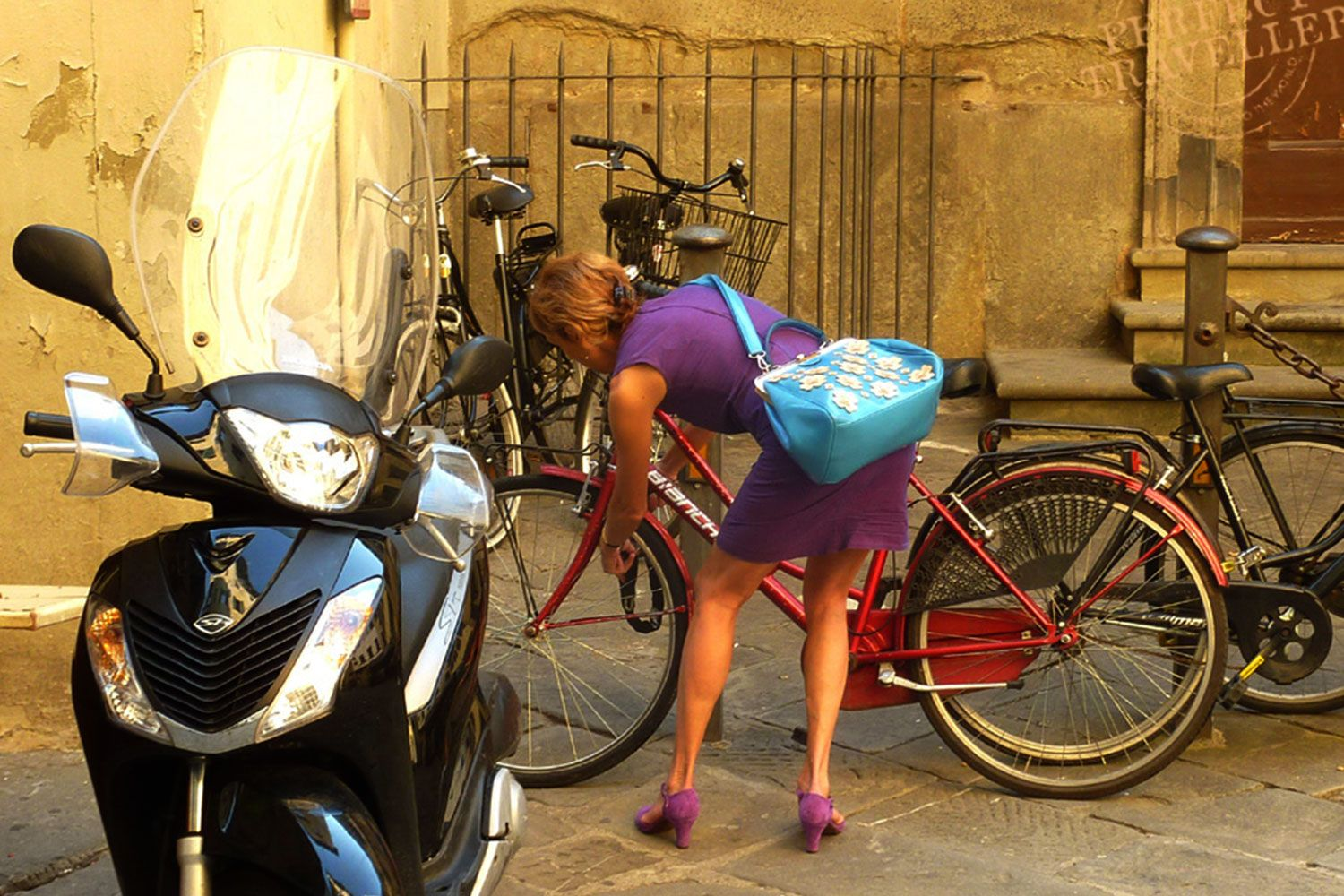 Who needs a car in Florence when you can ride your bike
