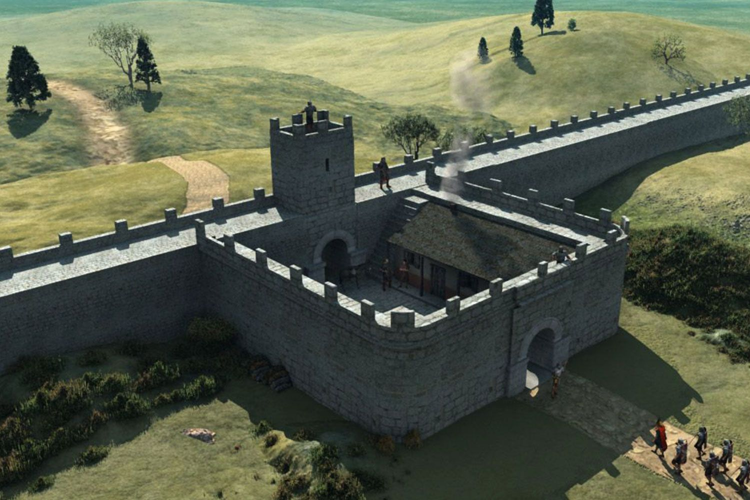 How a Milecastle looked in Hadrian's Wall