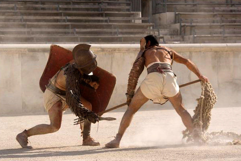 Gladiators fighting in Rome