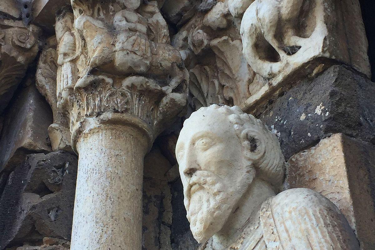St. Paul on the portal of S. Maria Maggiore, in Tuscania circa 1100 AD