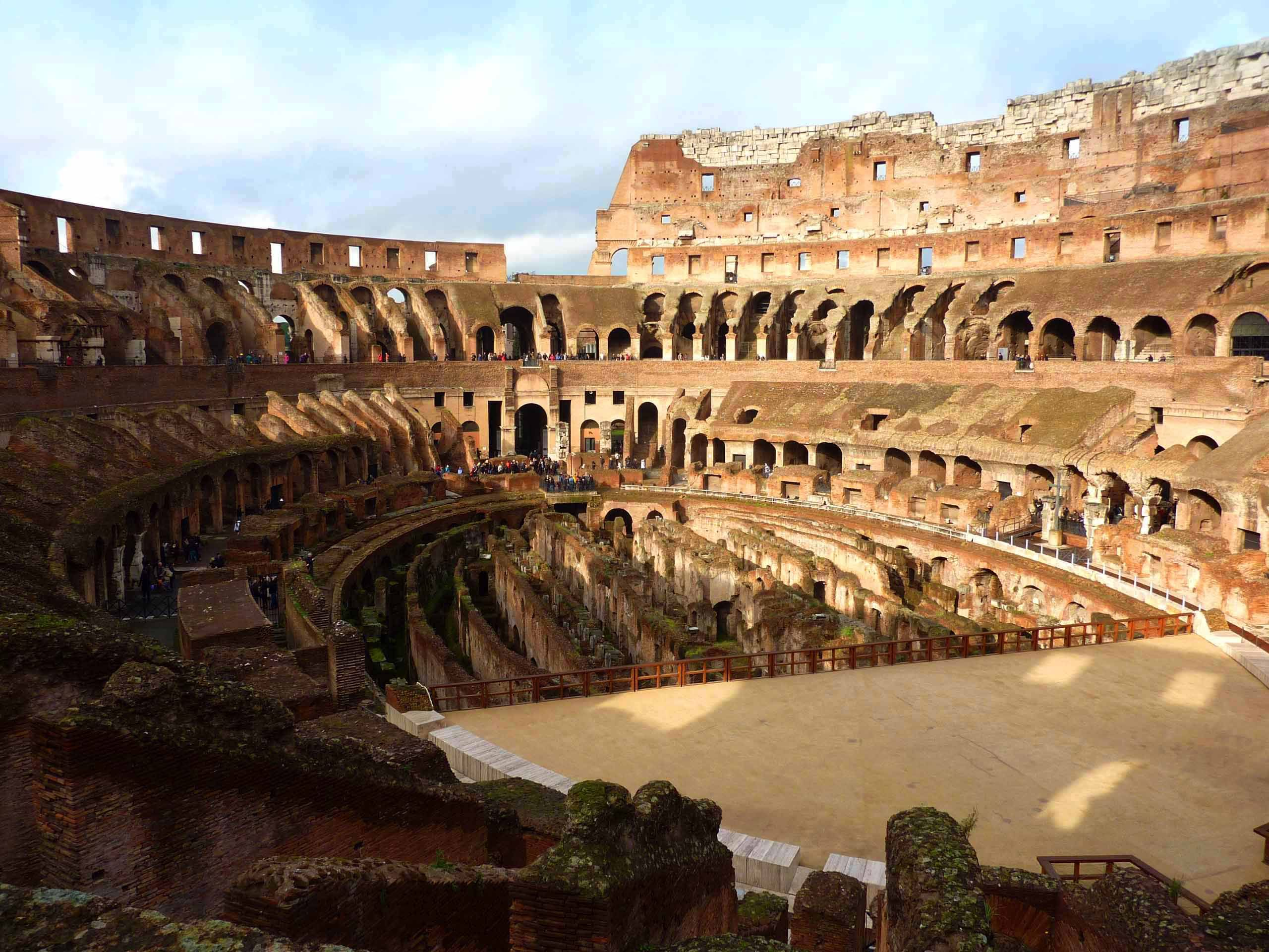 The Pit of Hell inside the Colosseum
