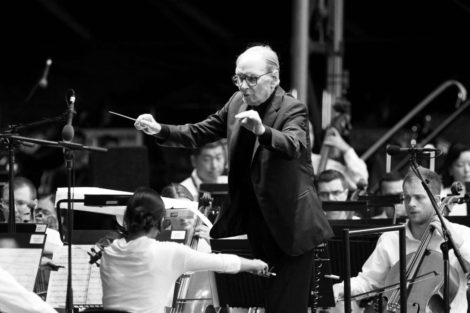 Morricone the conductor bringing his music to life