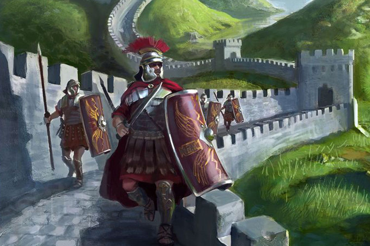 Roman soldiers on Hadrian's wall