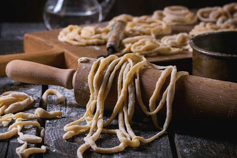 Homemade pici pasta served at Gino's