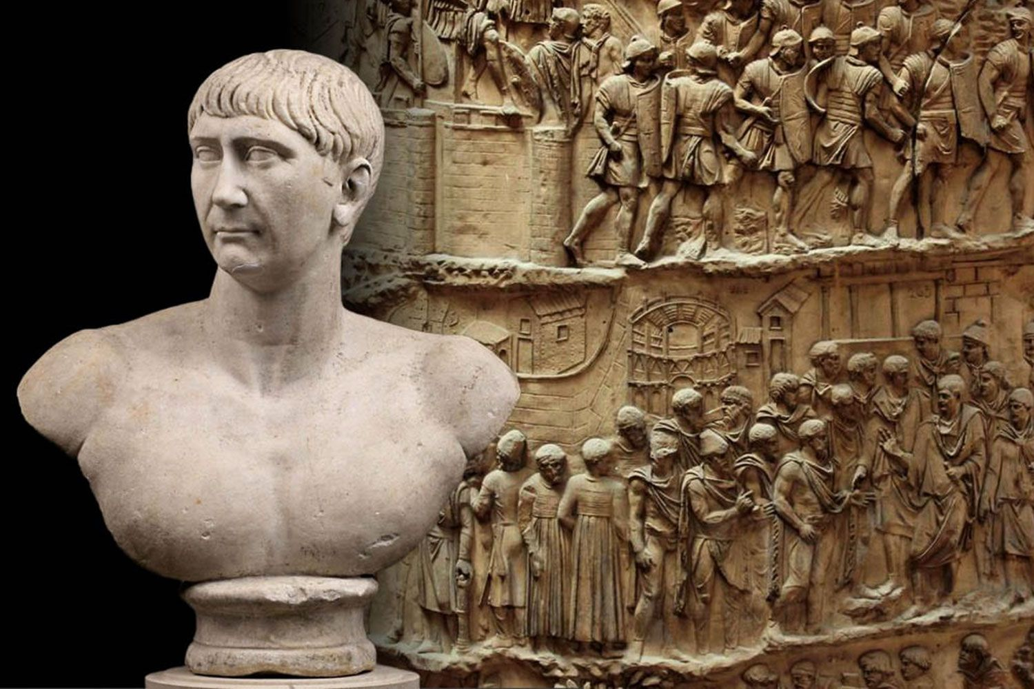 Trajan's Column, probably the work of the architect Apollodorus of Damascus and was completed in AD 113